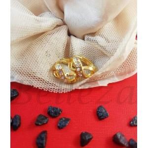 Обеци в златен цвят с цирконий - E 21736