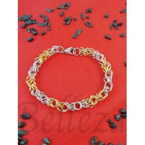 Гривна от медицинска стомана в златен и сребърен цвят B - 1271