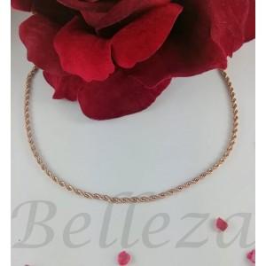 Ланец с цвят розово злато от медицинска стомана N - 21527