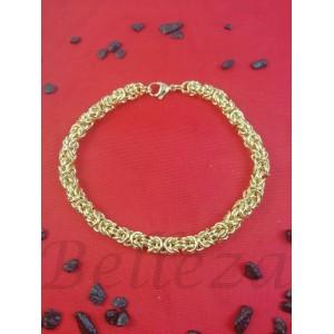 Гривна в златен цвят от медицинска стомана B - 1587
