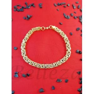 Гривна със златна баня от медицинска стомана B - 1537