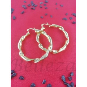 Дамски обеци със златна баня от медицинска стомана E - 21655