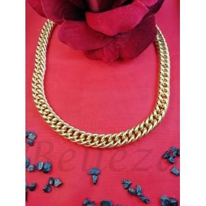 Ланец в златен цвят от медицинска стомана N - 21662