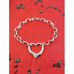 Дамска гривна в сребърен цвят от медицинска стомана B - 1607