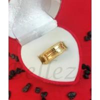 Пръстен тип-халка в златен цвят от медицинска стомана R - 631