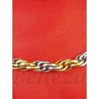 Ланец със златна и сребърна баня от медицинска стомана N - 21153