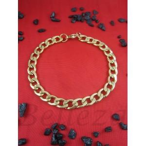 Гривна в златен цвят от медицинска стомана B - 1444