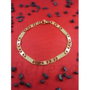Гривна от медицинска стомана със златен цвят B - 1126
