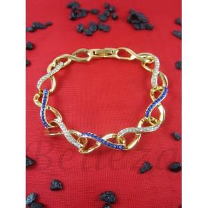 Гривна от медицинска стомана в златен цвят B - 1463