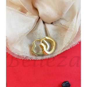 Дамски обеци в златен цвят от медицинска стомана E - 21768