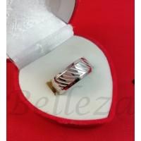 Пръстен тип-халка в сребърен цвят от медицинска стомана R - 640