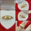 Пръстен тип-халка в златен цвят от медицинска стомана и цирконий R - 644
