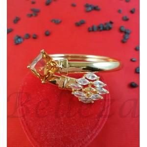 Гривна от медицинска стомана в златен цвят B - 1563