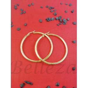 Обеци от медицинска стомана в златен цвят E - 21695