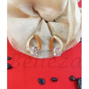 Дамски обеци в златен цвят Е - 21699