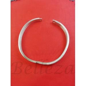 Гривна от медицинска стомана в сребърен цвят B - 1565