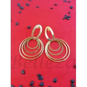 Дамски обеци в златен цвят Е - 21697