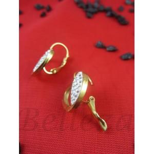 Дамски обеци в златен цвят Е - 21694