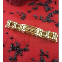 Гривна със златна баня от медицинска стомана B - 1483