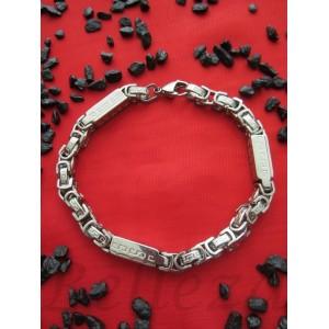 Гривна от медицинска стомана в сребърен цвят B - 1218