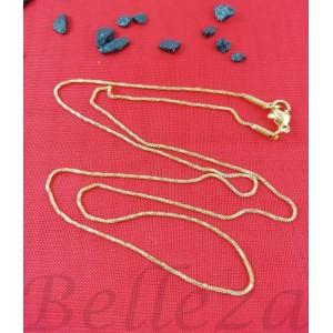 Верижка със златна баня от медицинска стомана N - 21512