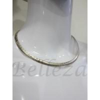 Комплект от колие и гривна със златна и сребърна баня от медицинска стомана S - 2111