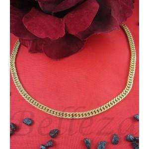 Ланец със златна баня от медицинска стомана N - 21446