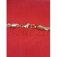 Ланец със златна баня от медицинска стомана N - 21429