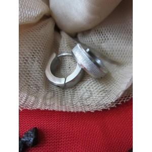 Обеци със сребърна баня от медицинска стомана E - 21317