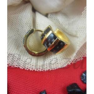 Дамски обеци със златна баня от медицинска стомана E - 21397