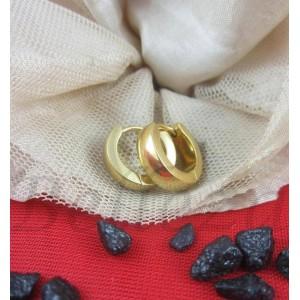 Обеци тип - халки със златна баня от медицинска стомана E - 21717