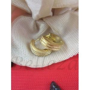 Дамски обеци със златна баня от медицинска стомана E - 21570