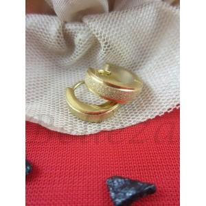 Дамски обеци със златна баня от медицинска стомана E - 21571