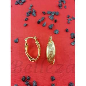 Дамски обеци със златна баня от медицинска стомана E - 21595