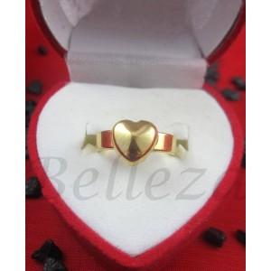 Дамски пръстен със златна баня от медицинска стомана R - 464