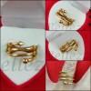 Дамски пръстен със златна баня от медицинска стомана R - 581