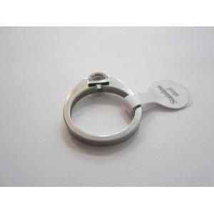 Пръстен със сребърна баня от медицинска стомана R - 35