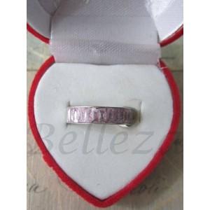 Пръстен тип-халка със сребърна баня от медицинска стомана и розови кристали R - 317