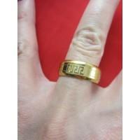 Пръстен тип халка със златна баня от медицинска стомана R - 544