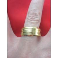 Пръстен тип халка със златна баня от медицинска стомана R - 553