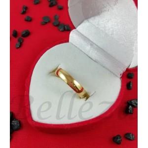 Пръстен тип халка със златна баня от медицинска стомана R - 573
