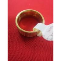 Пръстен тип халка със златна баня от медицинска стомана R - 535