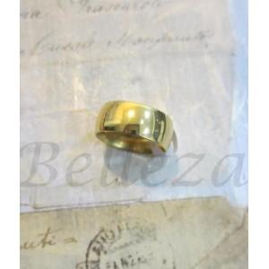 Пръстен тип халка със златна баня от медицинска стомана R - 231