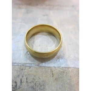 Пръстен тип халка със златна баня от медицинска стомана R - 213