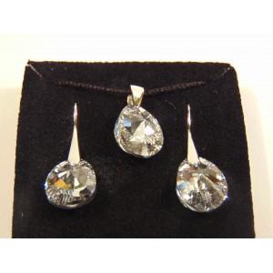 Сребърен комплект с кристали Сваровски МиниКруша Кристално Ясни