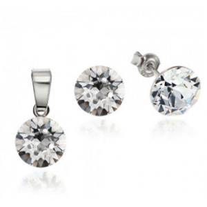 Сребърен комплект с кристали Сваровски Сириус Кристално Ясни