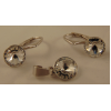 Сребърен комплект с кристали Сваровски Кристално Ясни