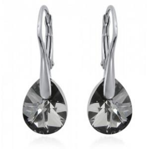 Сребърни обеци с кристали Сваровски Сребърна Сянка