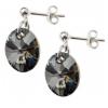 Сребърни обеци с кристали Сваровски Сребърна Нощ