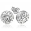 Сребърни обеци с кристали Сваровски Мини Кристално Ясни